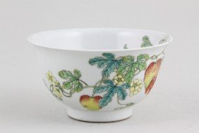 Chinese Republic Period Famille Rose Bowl