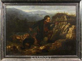 Attr. Tait, Portrait Of Hunter, O/C