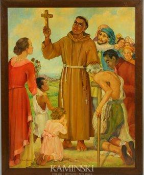 """V. Buys Gateley, """"St. Francis,"""" O/C"""