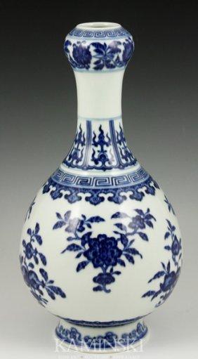 Blue And White Garlic Head Vase