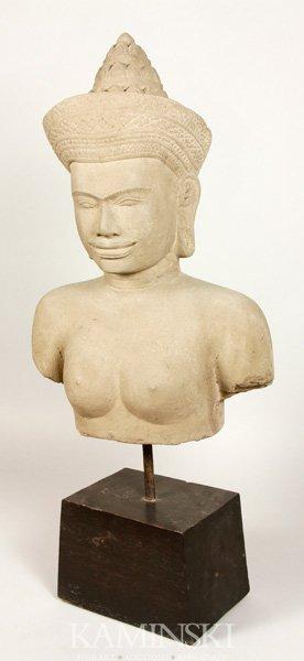Cambodian Sandstone Statue