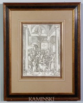 "After Durer, ""The Annunciation"", Print"