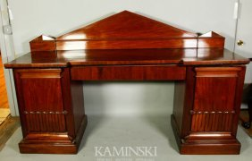 Five Piece Mahogany William IV Sideboard