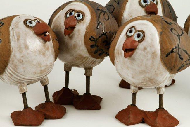 Davis Seagulls Art Pottery Lot 8350