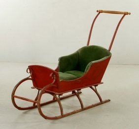 Victorian Child's Push Sleigh