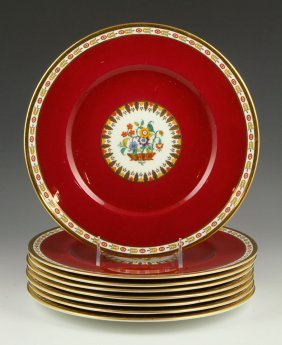Set Of English Cauldon China Plates