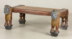 Folk Art Lion Table