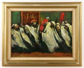 Adler, Simchat Torah Celebration, Oil On Canvas