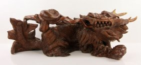 Indonesian Carved Dragon Sculpture