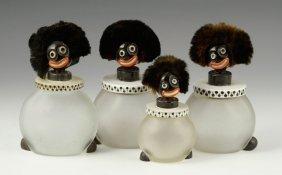 Vintage Figural Boudoir Jars