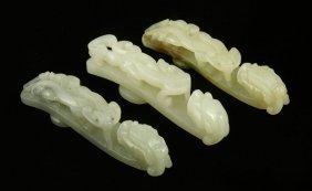 Three Chinese Jade Buckles