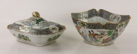 Two Chinese Famille Verte Bowls