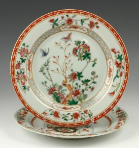 Two Chinese Export Porcelain Plates