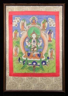 Chinese Thangka Painting
