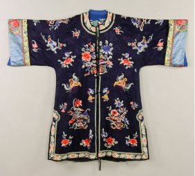 Chinese Qing Dynasty Women's Winter Robe