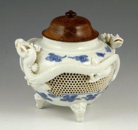 Japanese Hirado Porcelain Censer