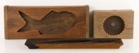 Three Carved Japanese Hardwood Items
