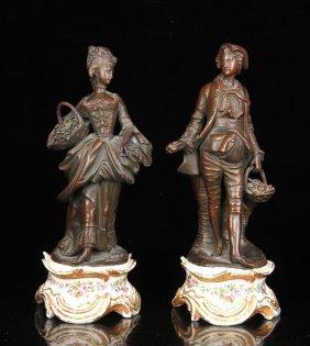 Two 19th C. Paris Porcelain Figures