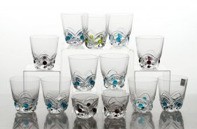 13 Lalique Whiskey Tumblers