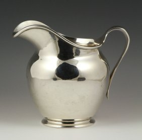 English Sterling Water Pitcher