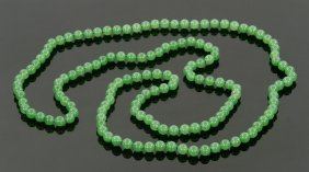 Chinese Jade Bead Necklace