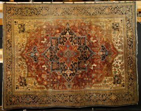 Early 20th C. Heriz Carpet