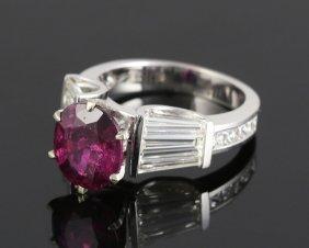 Ladies' Ruby And Diamond Ring