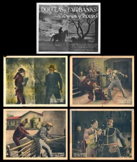 """the Mask Of Zorro"", Lobby Cards"