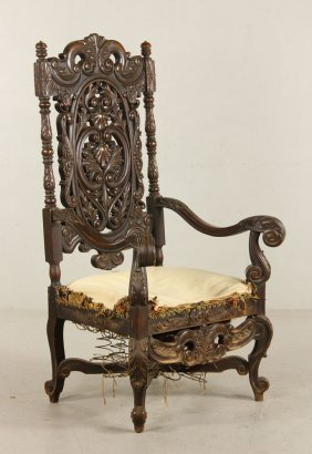 Carved Continental Arm Chair