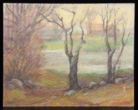 Landscape, Oil On Board