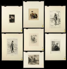 7 Etchings And Lithographs