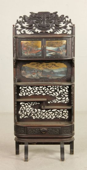 19th C. Chinese Carved Cabinet