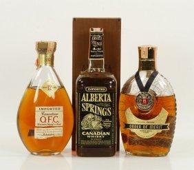 3 Bottles Vintage Canadian Whiskeys