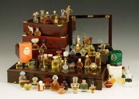 Large Collection Of Miniature Perfume Bottles