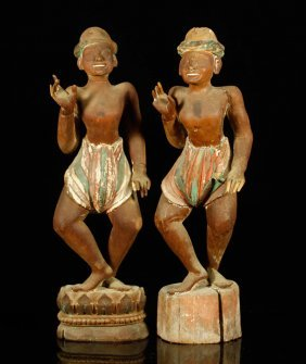 Pr. 19th C. Indonesian Carved Figures