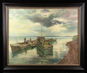 Harvey, Gathering Of Nets, Oil On Canvas