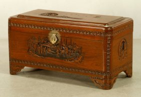 Chinese Carved Wood Chest