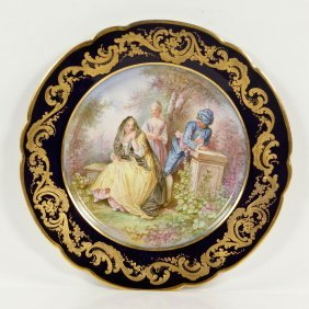 French Hand Painted Sevres Plate