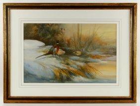 Sander, Pheasants, Watercolor