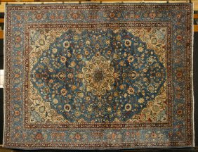 Semi Antique Persian Kerman Carpet