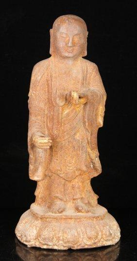 Cast Iron Buddha Sculpture