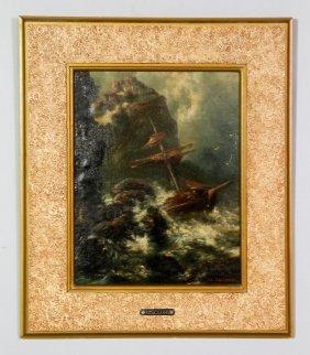 Costanza, Shipwreck, Oil On Canvas