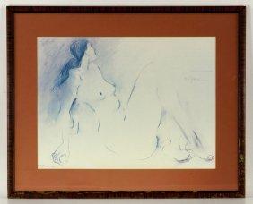 Gorman, Nude Reclining, Print