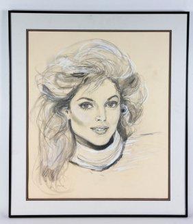Fritz, Portrait Of Marla Maples, Charcoal