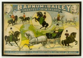 """Barnum And Bailey's """"greatest Show On Earth"""" Poster"""