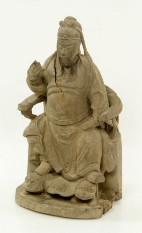 18th To 19th C. Chinese Figure Of Guan Yu