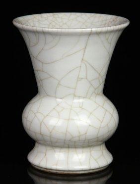 Chinese Guan Type Porcelain Zun Vase