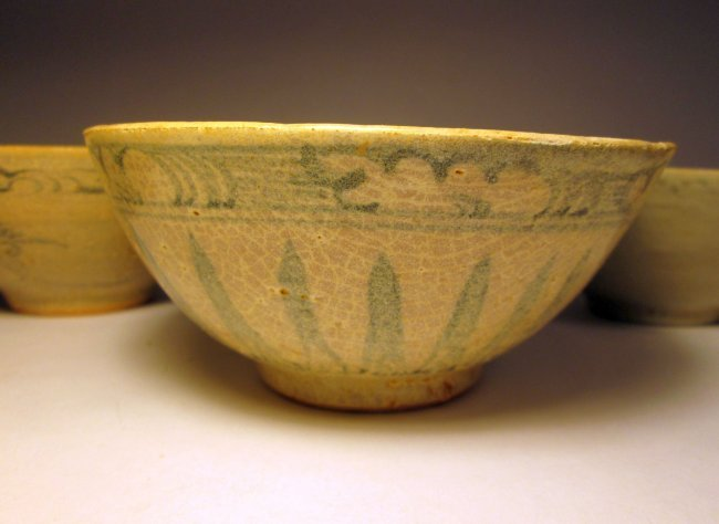 Lot Of Four Ancient Chinese Ceramic Rice Bowls Lot 77