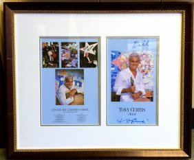 Tony Curtis - Historic Signed Exhibition Brochure -