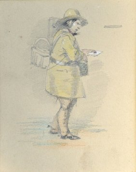 Drawing Of A Postman
